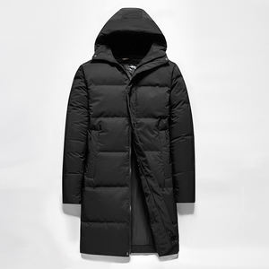 HIgh Quality Mens Black Puffer Coat Long Down Jacket Mens
