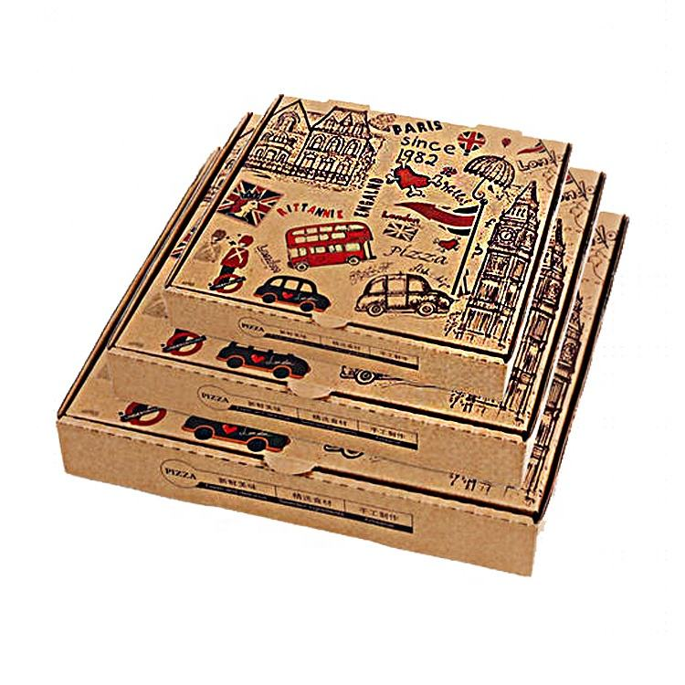 2020 Wholesale new design cheap custom printed corrugated carton pizza box