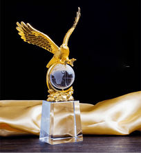 Factory Price Crystal Trophy Wholesale Gold Eagle Crystal Award Trophy