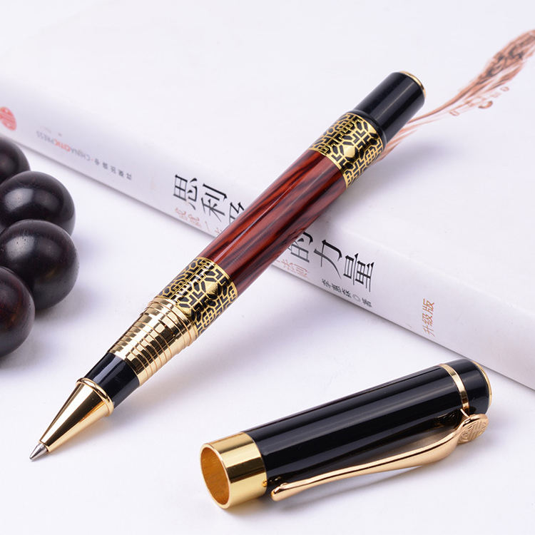New High Grade Business Gel Pen Advertising Heavy Metal Roller Pen Fashion Promotional Gift Ink Pen Office Stylo