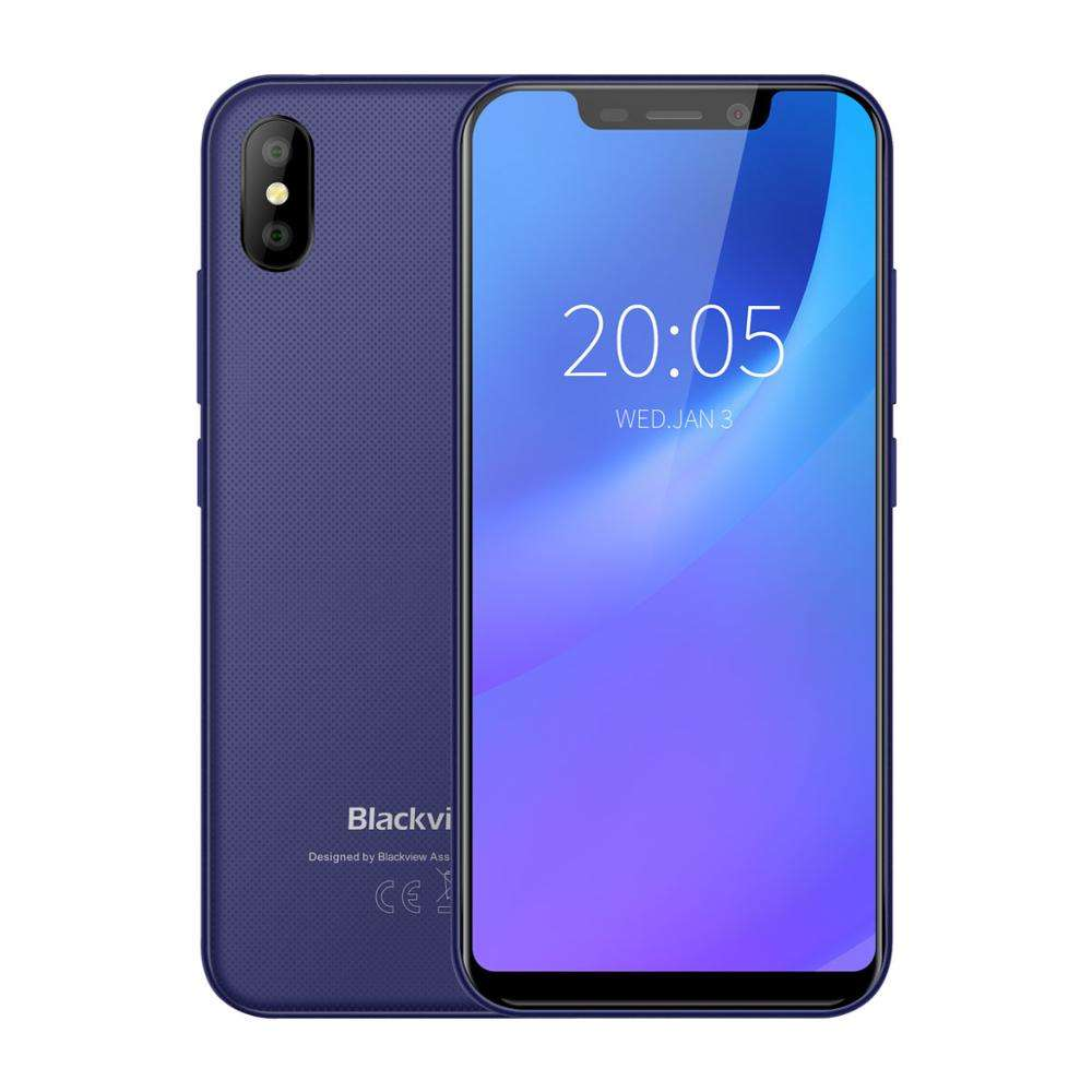 Original Blackview A30 mobile Phone MTK6580A Quad Core 2GB+16GB Face ID Unlock 5.5 inch Android 8.1 smart phones Dual SIM
