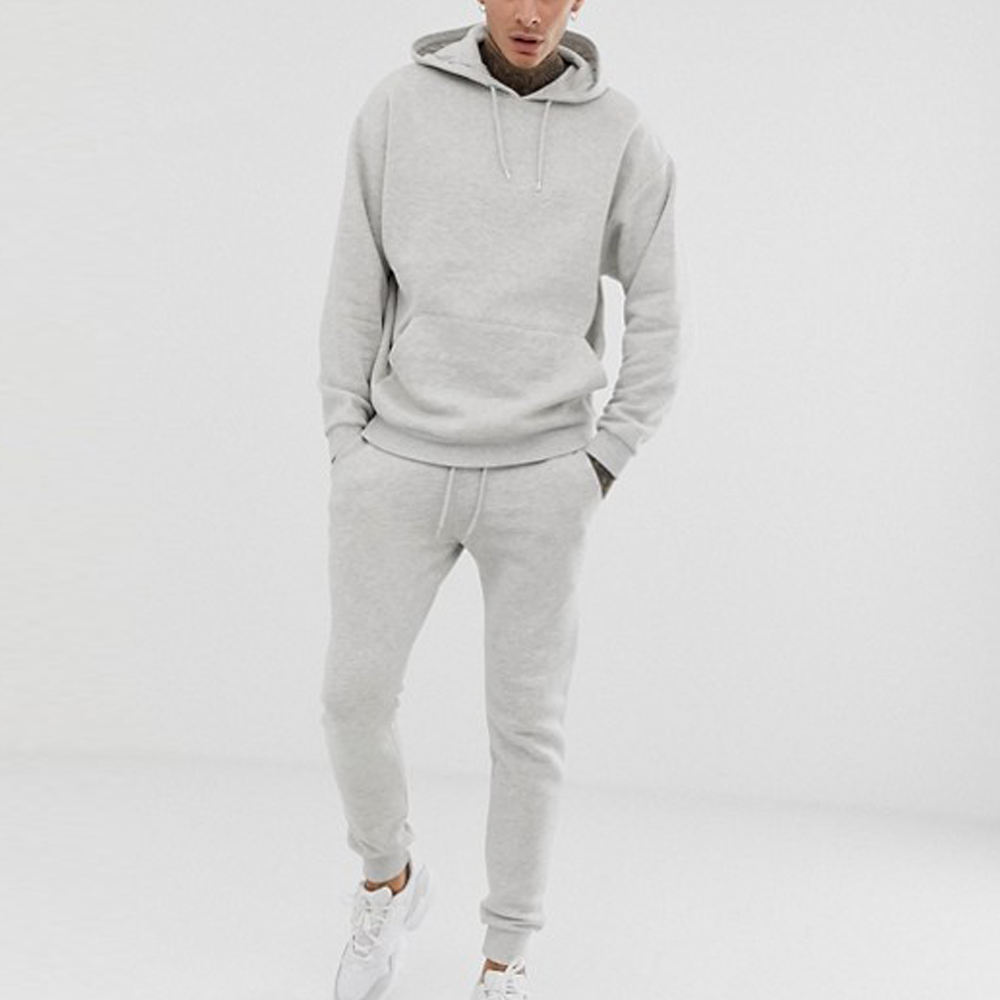 OEM Custom High Quality Cotton mix Spandex Sportswear Customized Design Gym Tracksuit For Men Jogging Suits Wholesale