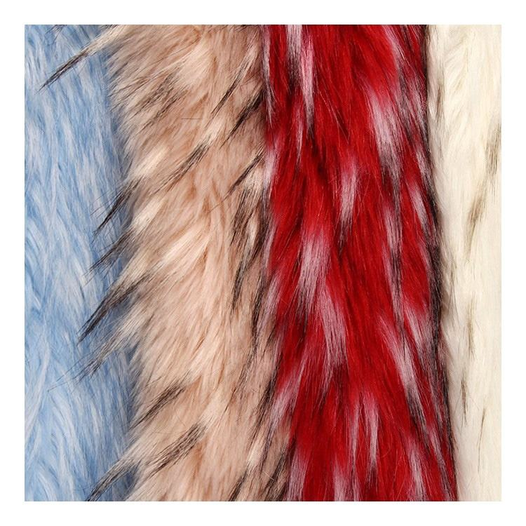 Acrylic Long Pile Artificial Animal Faux Fur Fabric For Garment