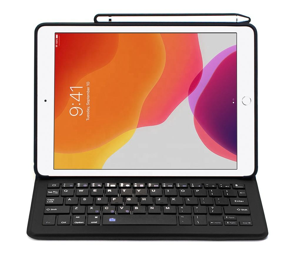 Voor ipad 10.2 Smart Keyboard Case 7th Gen Touchpad Toetsenbord met Flip Covers Pen houder
