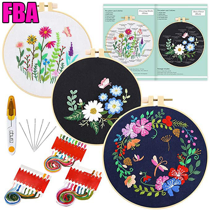 DIY Embroidery kit Flower Handwork Needlework cross stich embroidery kit with instructions
