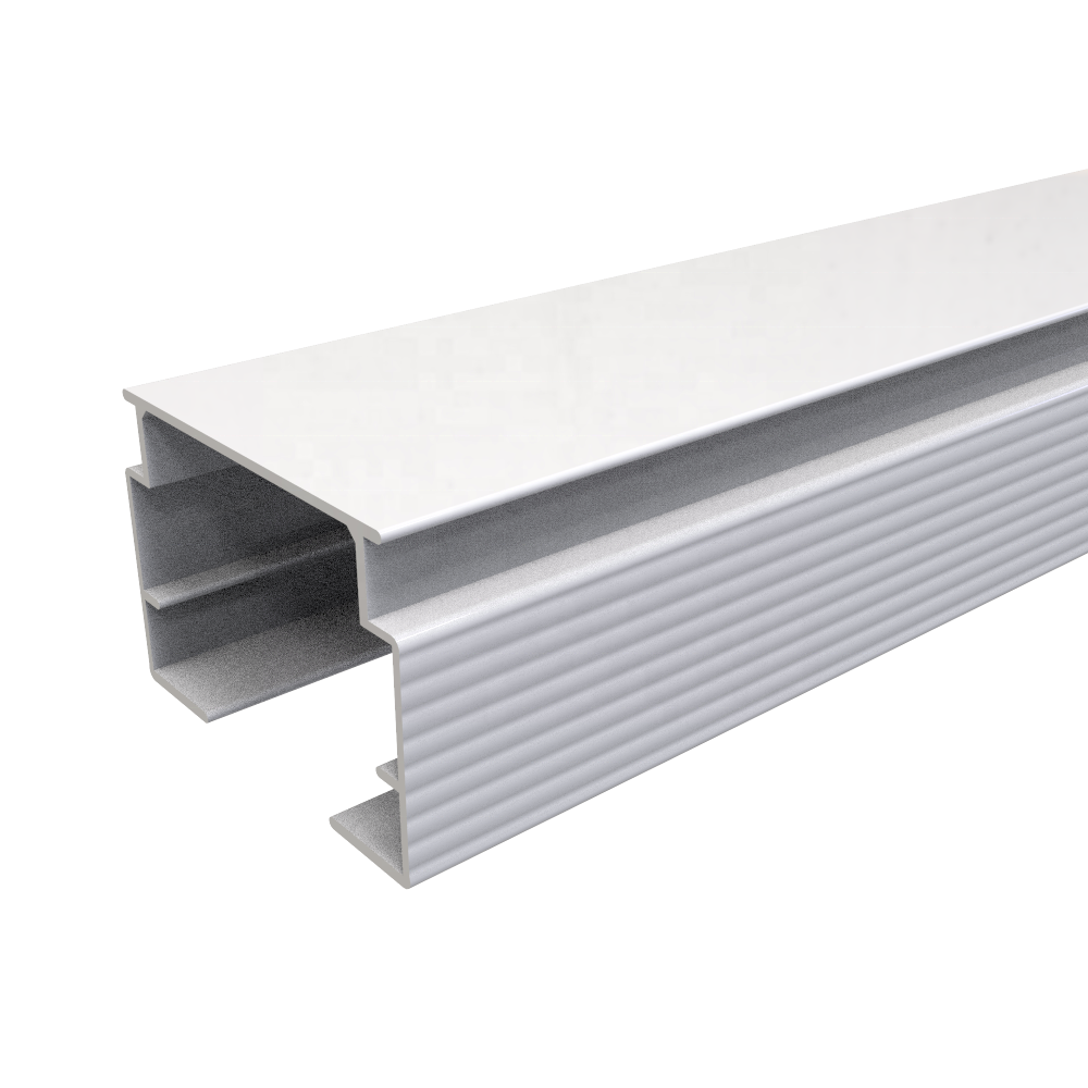 Aluminum head rail VT01-30-1-AP Vertical blinds head track component of blinds Cortina vertical window blind component