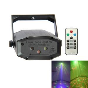 RGB 13in1 Sound Activation 5W Mini Disco DJ Party Laser Stage Light for Christmas