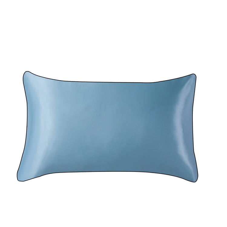 Wholesale Solid Satin Neck Pillow Covers Silk Satin Pillow Case Cover