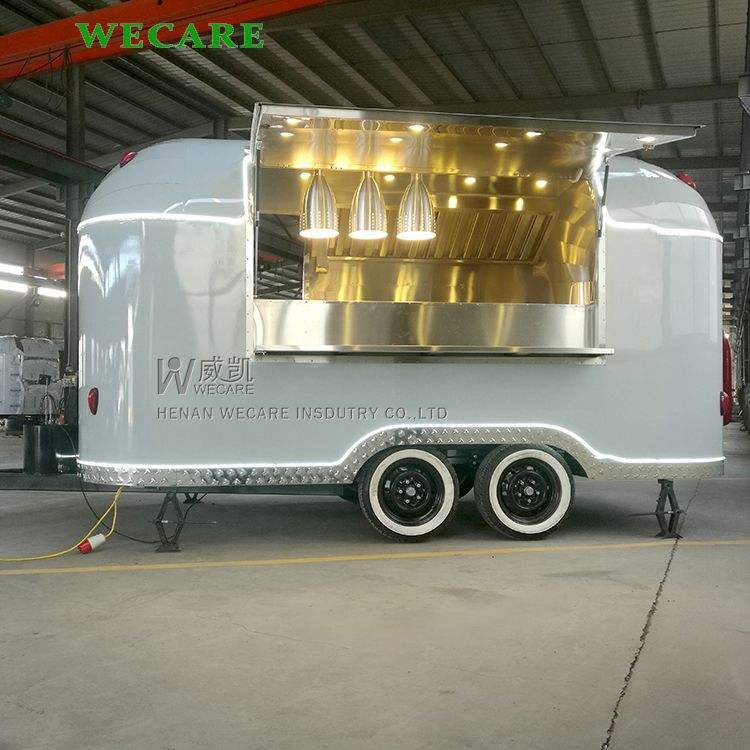 China concession airstream catering trailer used mobile fast food cart