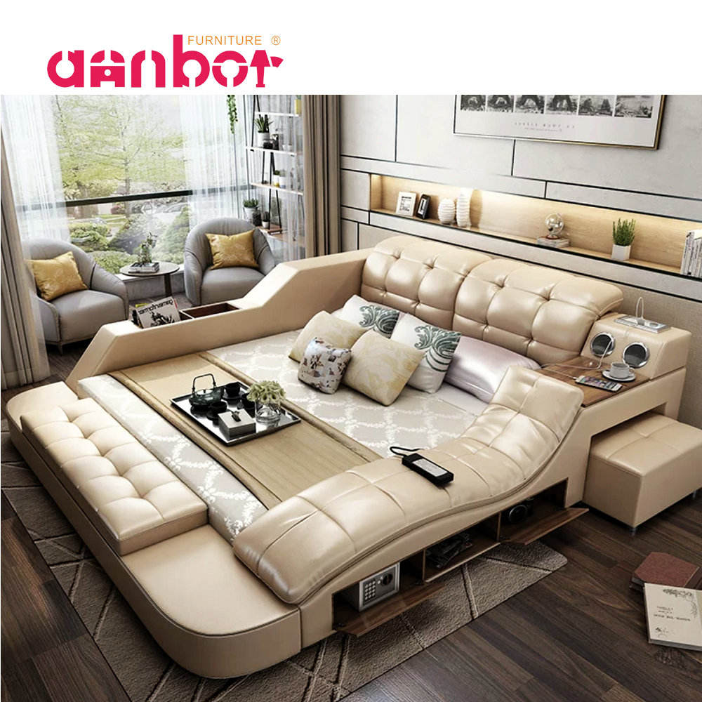 Annbor Furniture modern bed with storage massage functions multifunctional bed sets