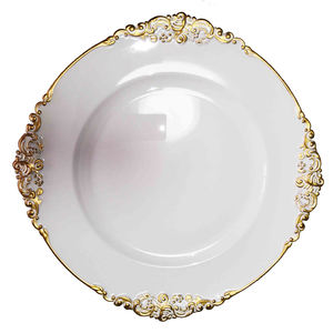 13inch wedding decorative white plastic charger plates