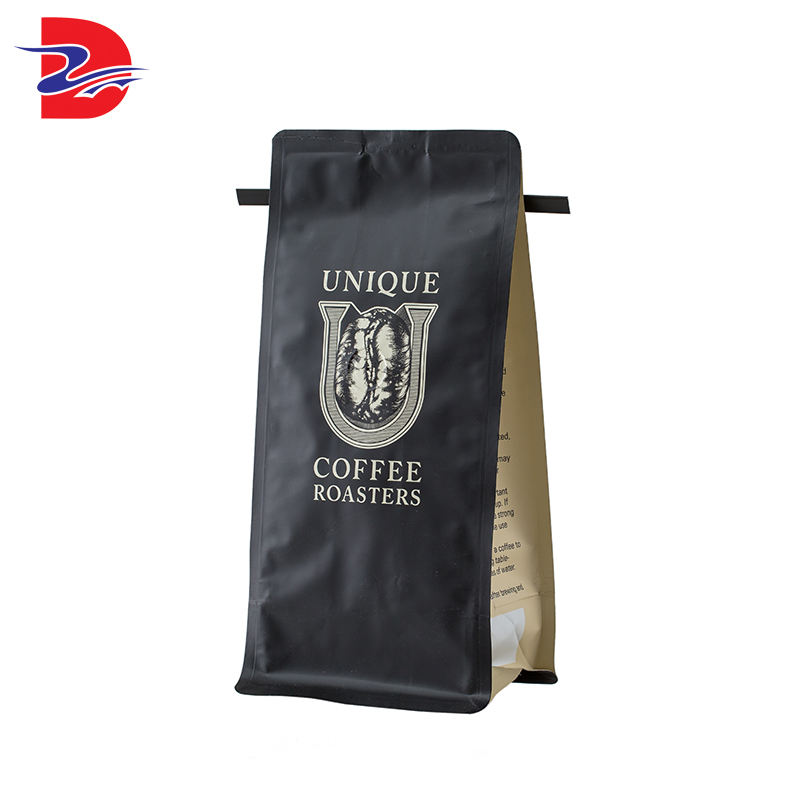 Brand New Aluminum Foil Black Coffee Tea Bag Eight Sides Heat Seal Mini Packaging Bag