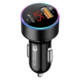 Dual usb 36w pd and qc3.0 car fast phone charger with led display