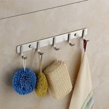 Bathroom stainless steel wall mounted metal clothes hanger hook rail