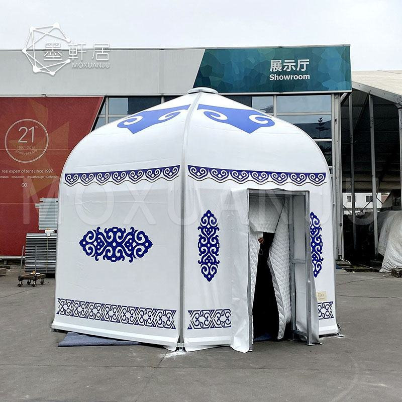 5M Mobile luxury Ger Glamping Hotel House Tents for Party Activities No Center Pole