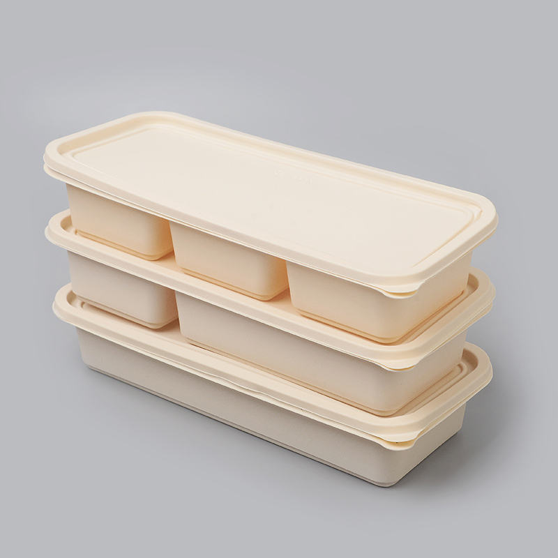 Biodegradable Disposable Food Container With Lids Eco Friendly Box Corn Starch Lunch For