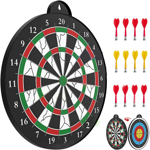 sport toys safety 16 inch dart board game Magnetic two sided target Dart Board