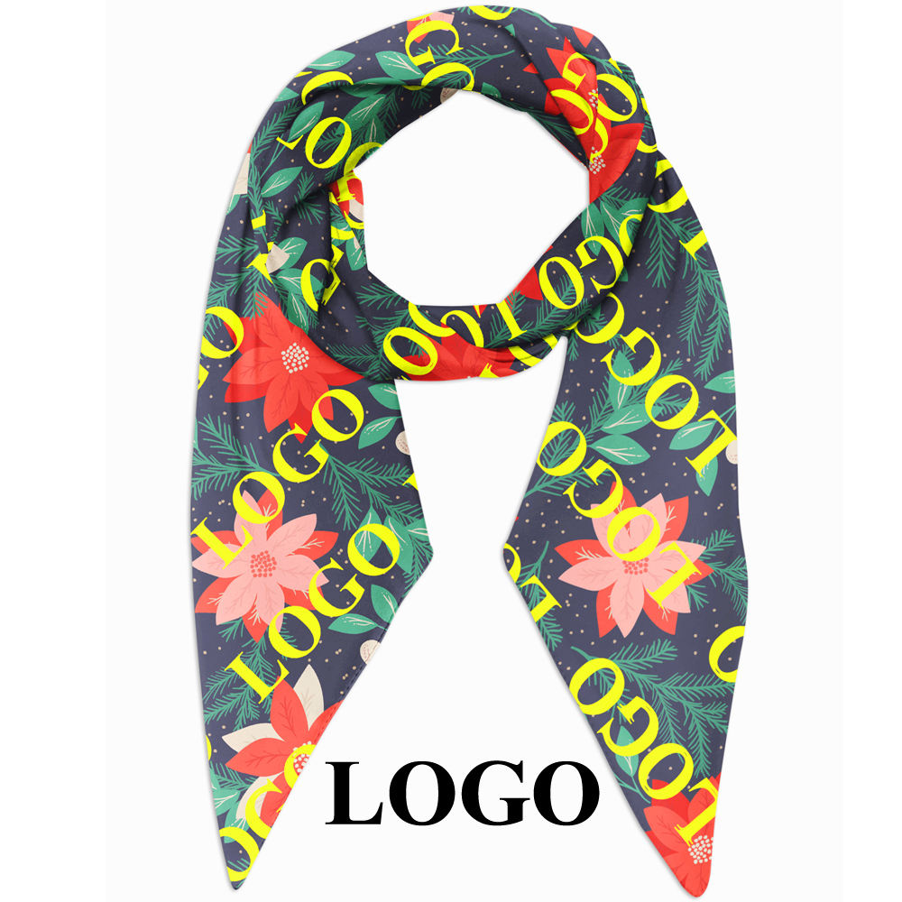Low MOQ make your own design printing custom scarf printed