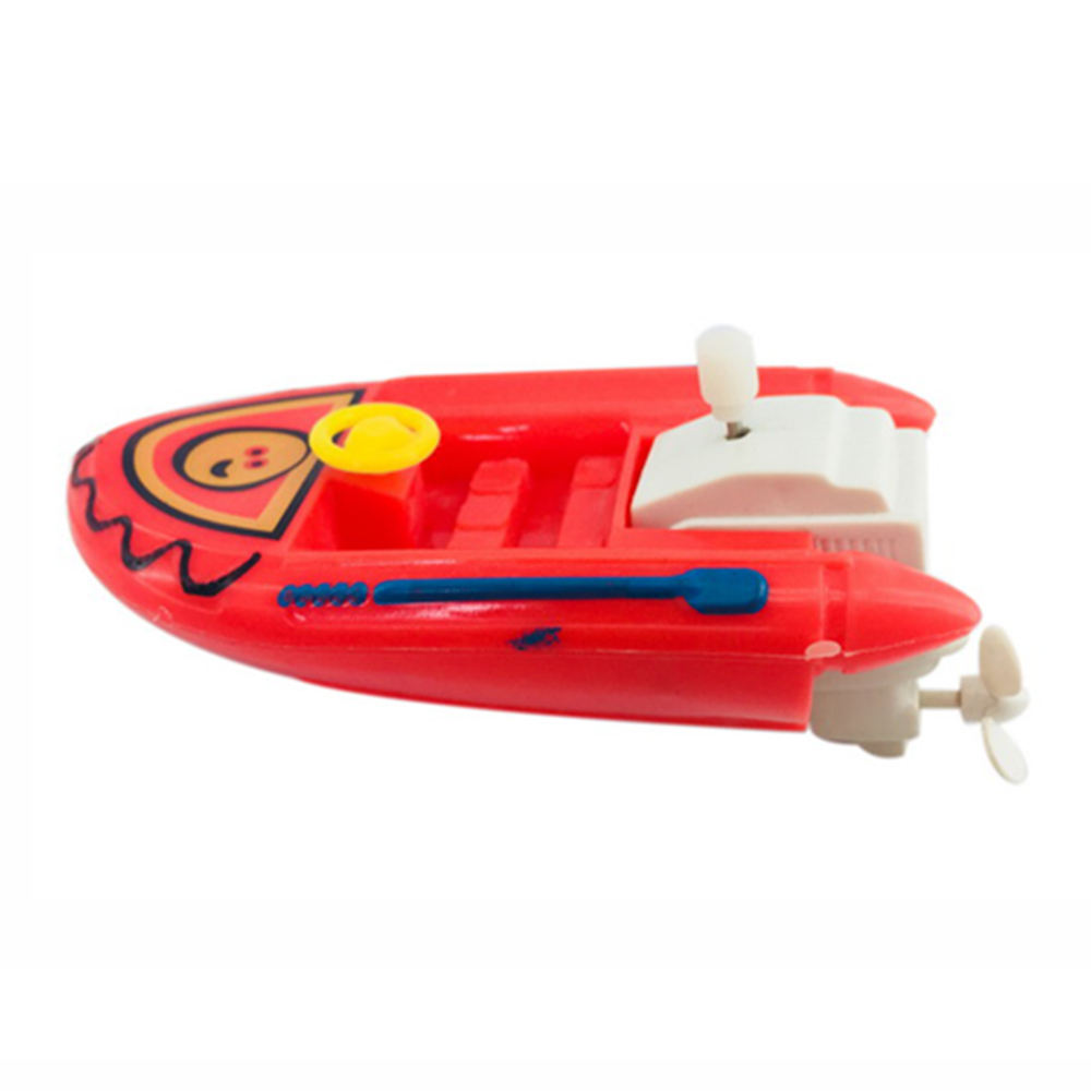Faction gift children bath mini plastic swimming funny wind up toy boat