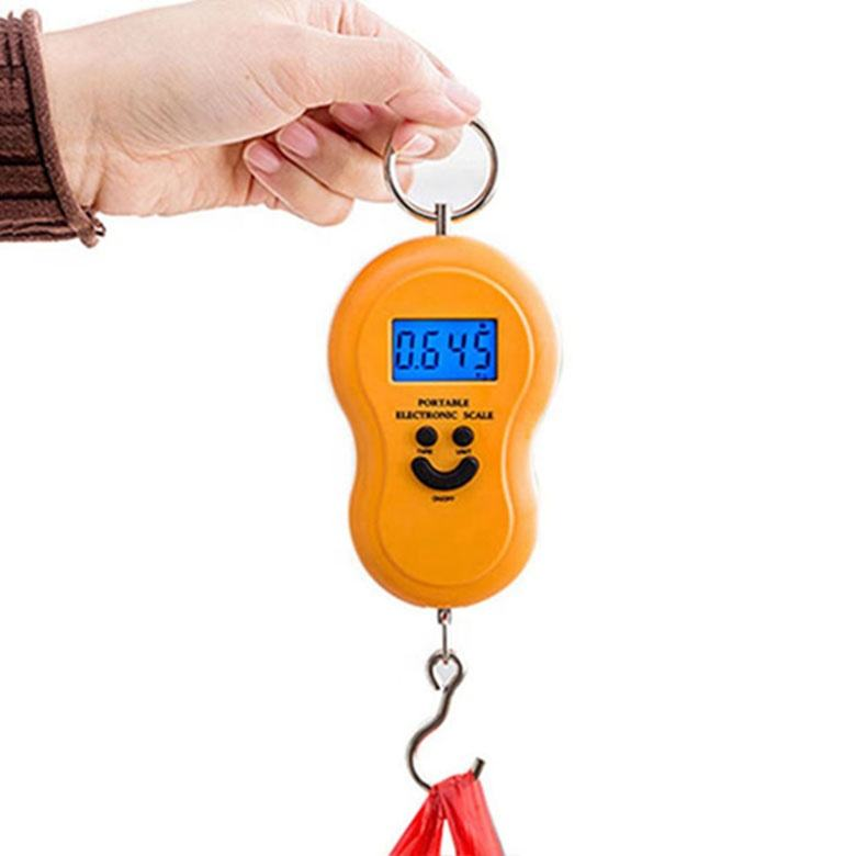 Popular Portable Smile Scale Luggage Weighing Scale Customized , Mini Digital Hand Held Hook Hanging Luggage Scale
