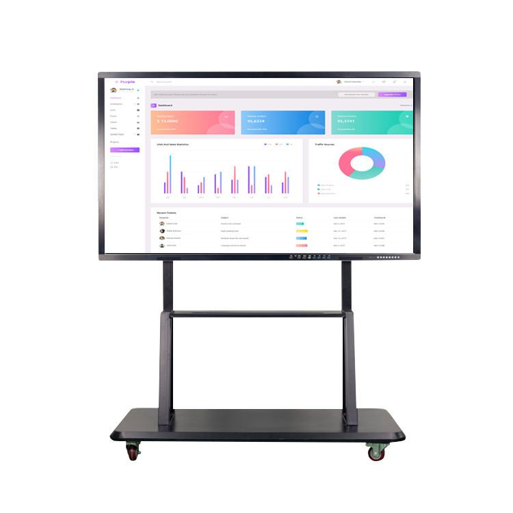 82 inch finger touch screen interactive whiteboard with Dual system Windows OS and Android OS