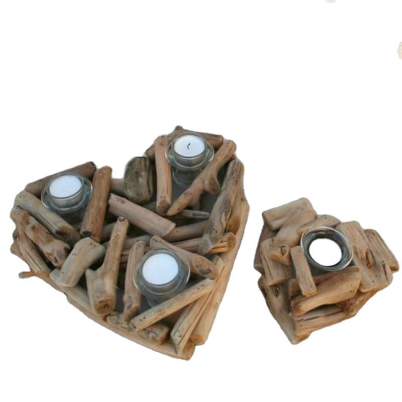 Home Decoration - Candle Holder Driftwood
