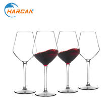 Unbreakable Plastic Red Wine Glasses Dishwasher Safe Crystal Clear Goblet 15 oz