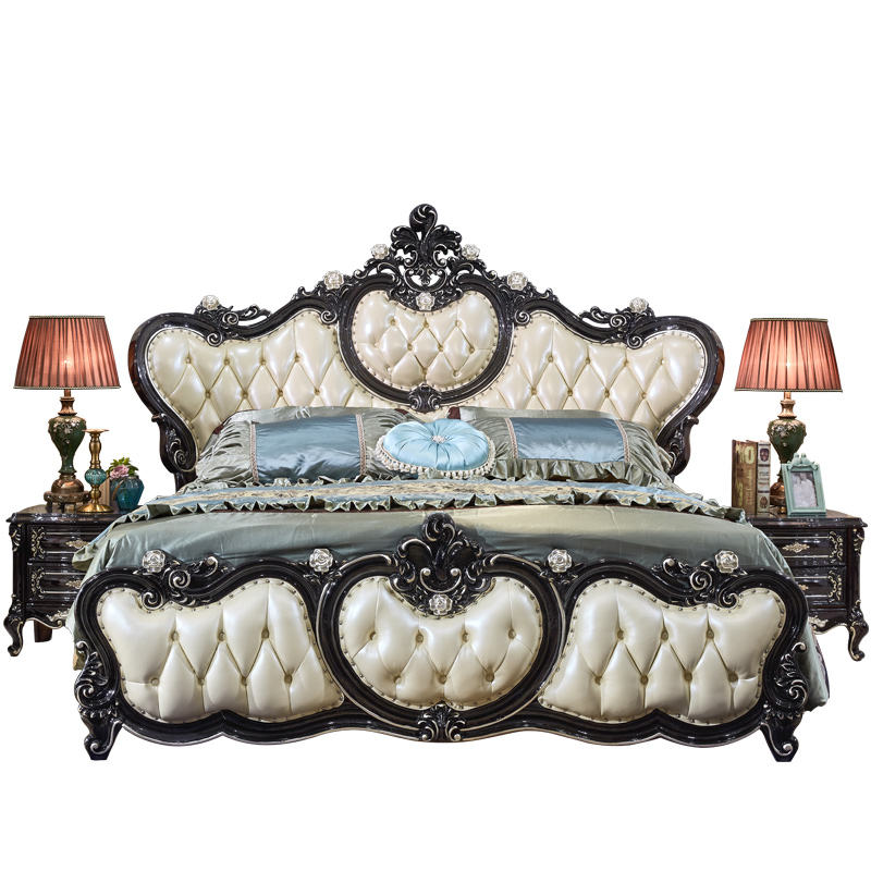 luxury antique classical double bed with hot selling model
