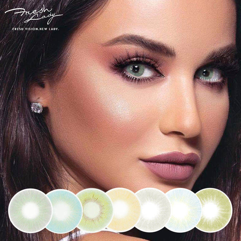 Freshlady yearly wholesale cosmetic eye color contact lenses