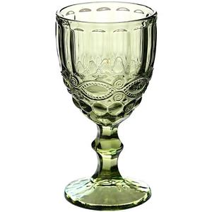 300 ml antique colorful crystal unbreakable wine glass for juice