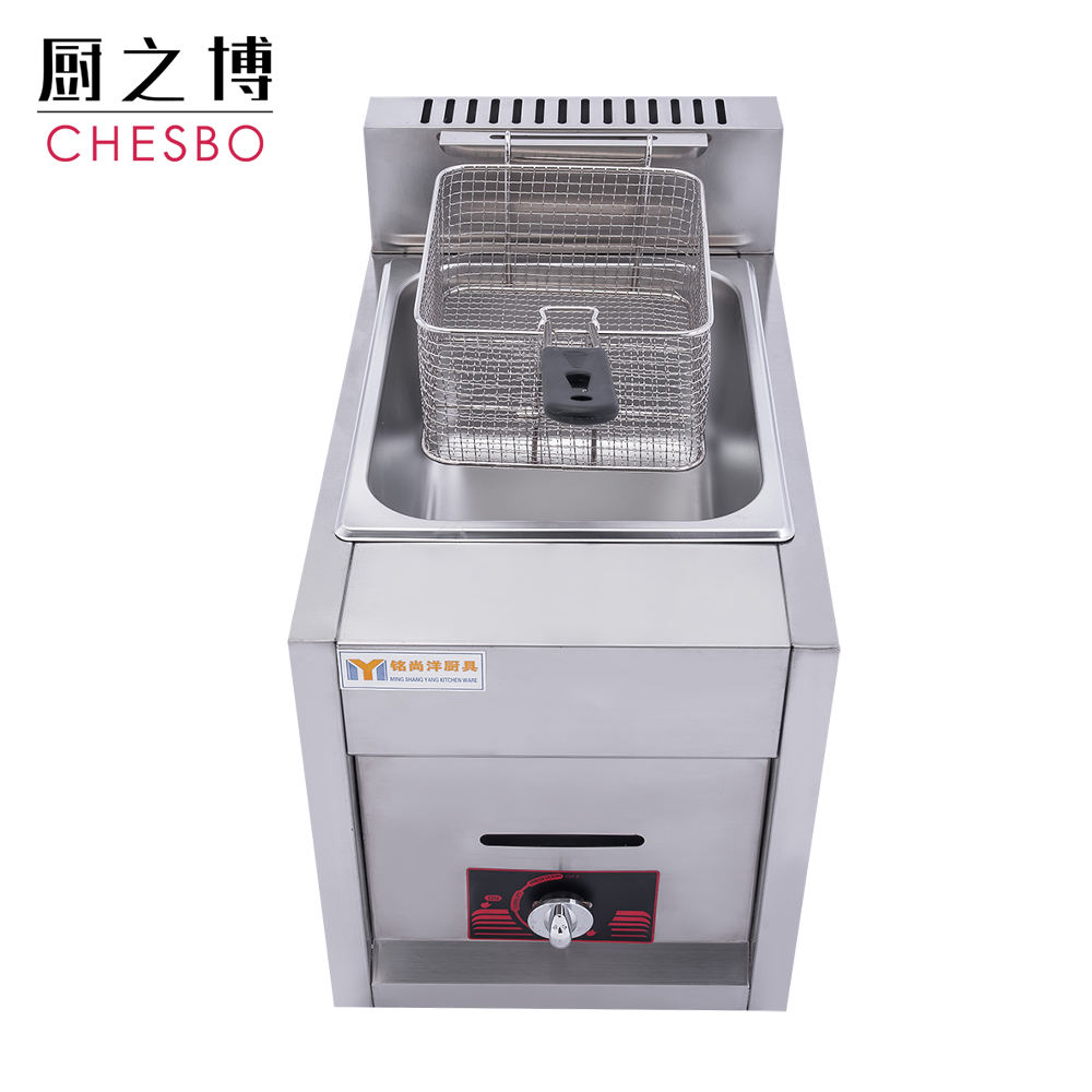Restaurant industrial gas fryer commercial single tank potato chips fryer