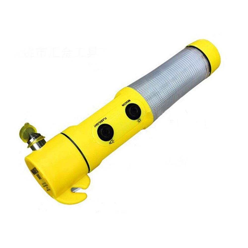 Multi-function Automobile Safety Hammer Flashlight Emergency Car Window Glass Breaker
