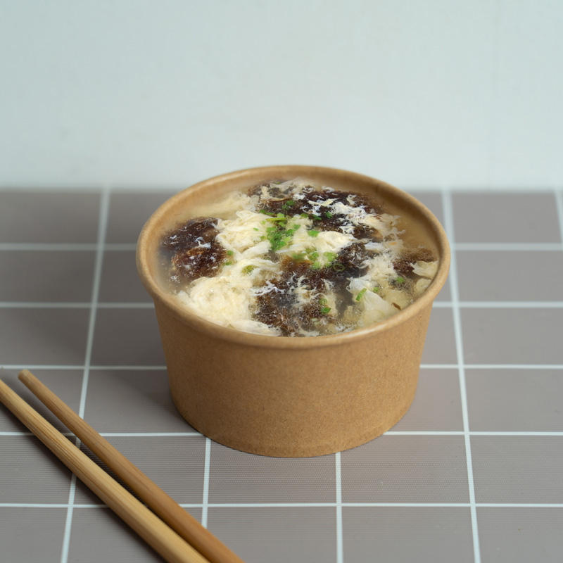 Disposable Food Grade kraft paper soup cup