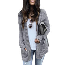 Hot Seller Women Long Cardigan Sweater Coat Autumn