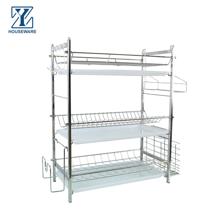 Hot Sale Stainless Steel Dish Racks rack dish drying 3 layer dish rack