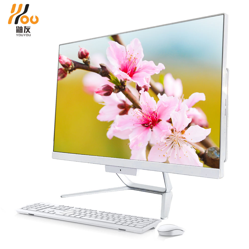 YOUYOU allinone pc 18inch-27inch i3-i7 4G-16G RAM 120G/240G/480G SSD 1TB/2TB HDD webcam touch screen CE CCC FCC monoblock pc