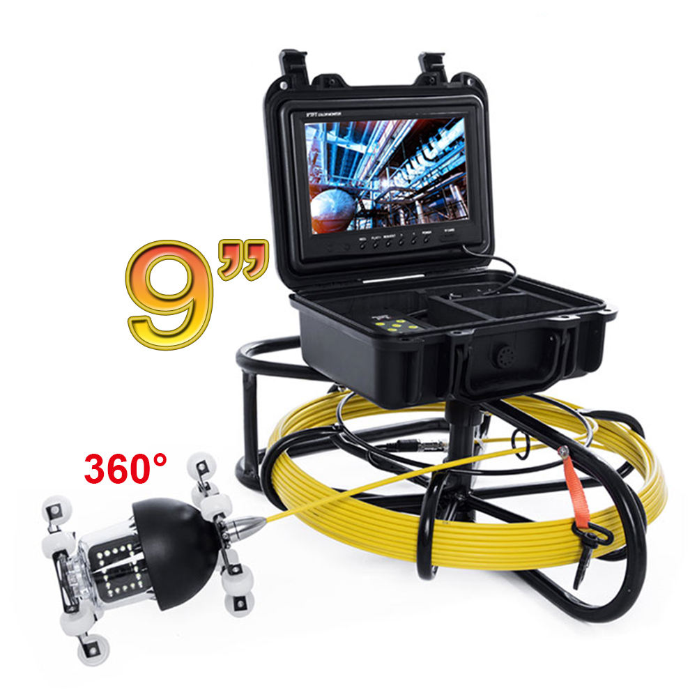 Easy Operation Plumbing CCTV 360 Rotating Sewer Pipe Inspection Camera