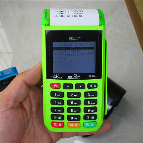 10000 pcs mass stock used S910 GPRS for touch and non touch POS terminals
