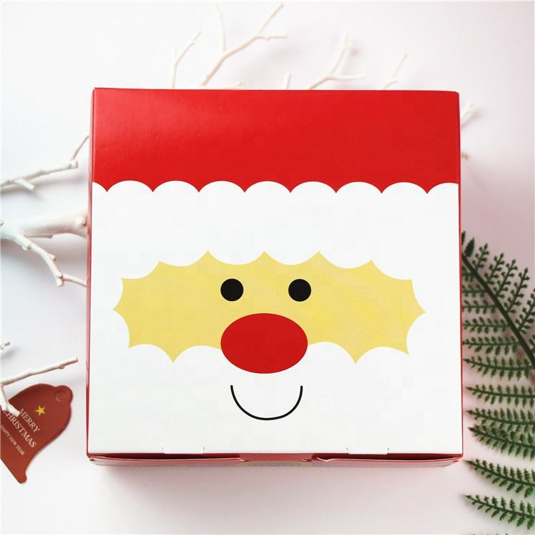 Diy Christmas gift box wrapped in paper packing box nuts empty carton box for sweets