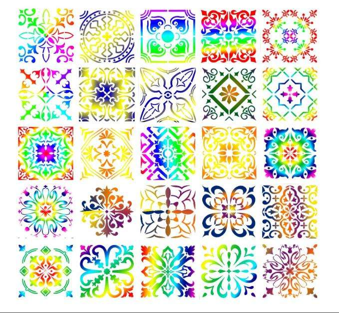 Painting Stencils for Floor Wall Tile reusable Fabric Wood Burning Art & Craft Supply Mandala Template
