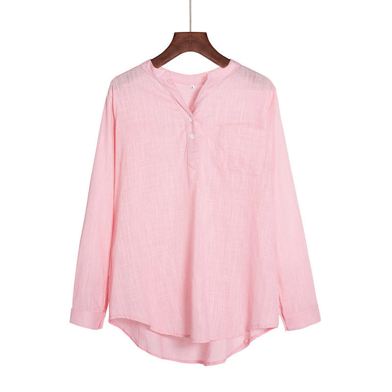 2019 Best selling Korean long sleeve blouse for women