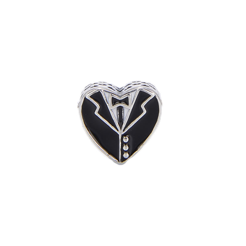 High quality Version formal dress design heart shape 925 sterling silver charms