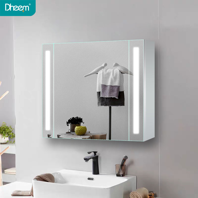 Luxury Aluminum bathroom cabinet with medicine cabinet LED bathroom mirror