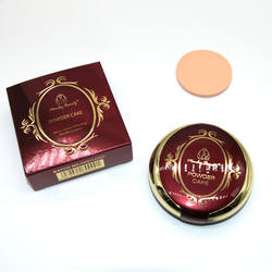 Waterproof Mineral Pressed Foundation Skin Whitening Face Double Compact Powder