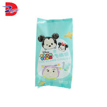 Most favorable customized design heat sealed printed flat candy wrapper packaging bag