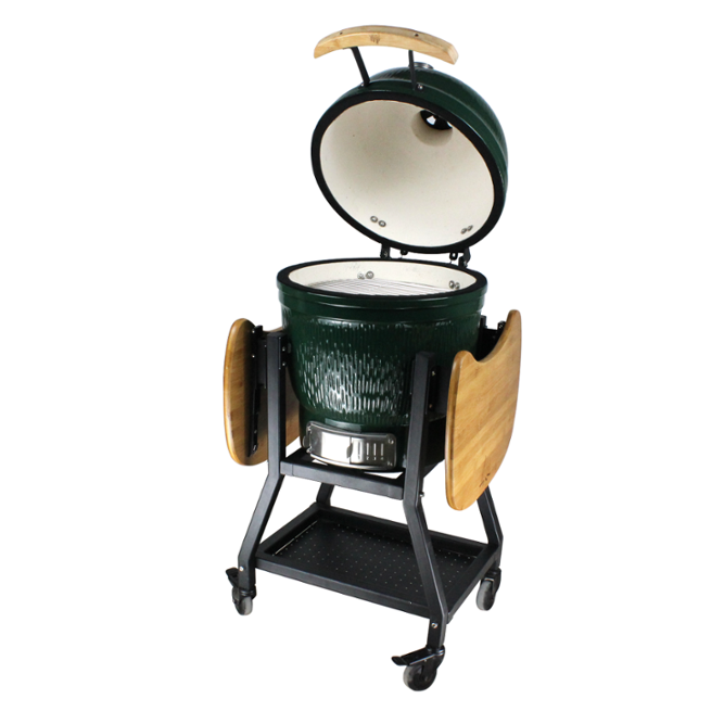 New stand of green big egg kamado grill smoker grill bbq