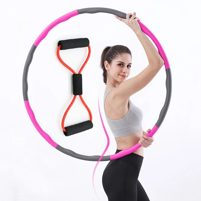 Section Detachable Hoola Hoop Soft Fitness Sports Hoop for Weight Loss Home Exercise Equipment Slimming Hoops for Gym