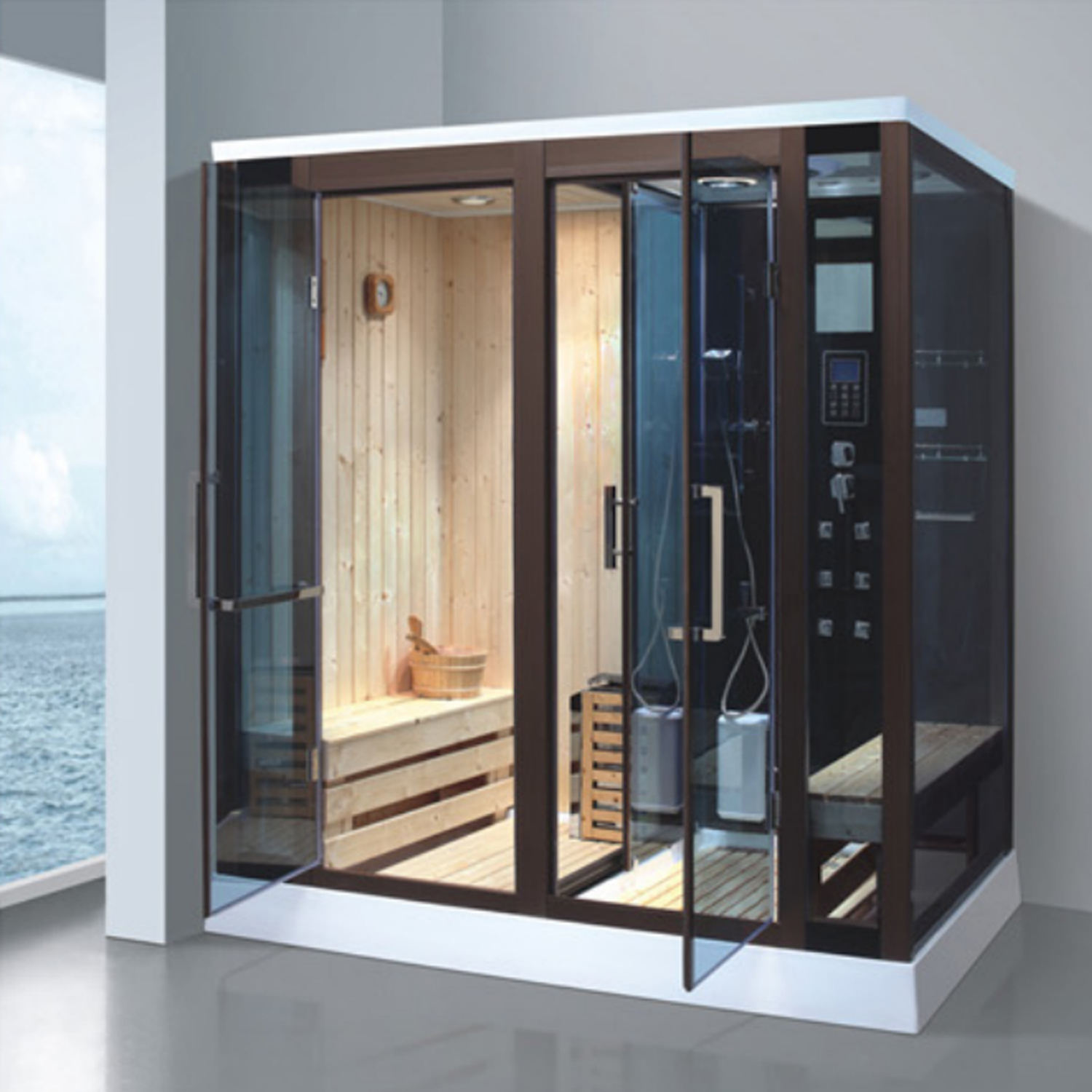 sauna and steam combined room/ sauna and steam room/ sauna bath price