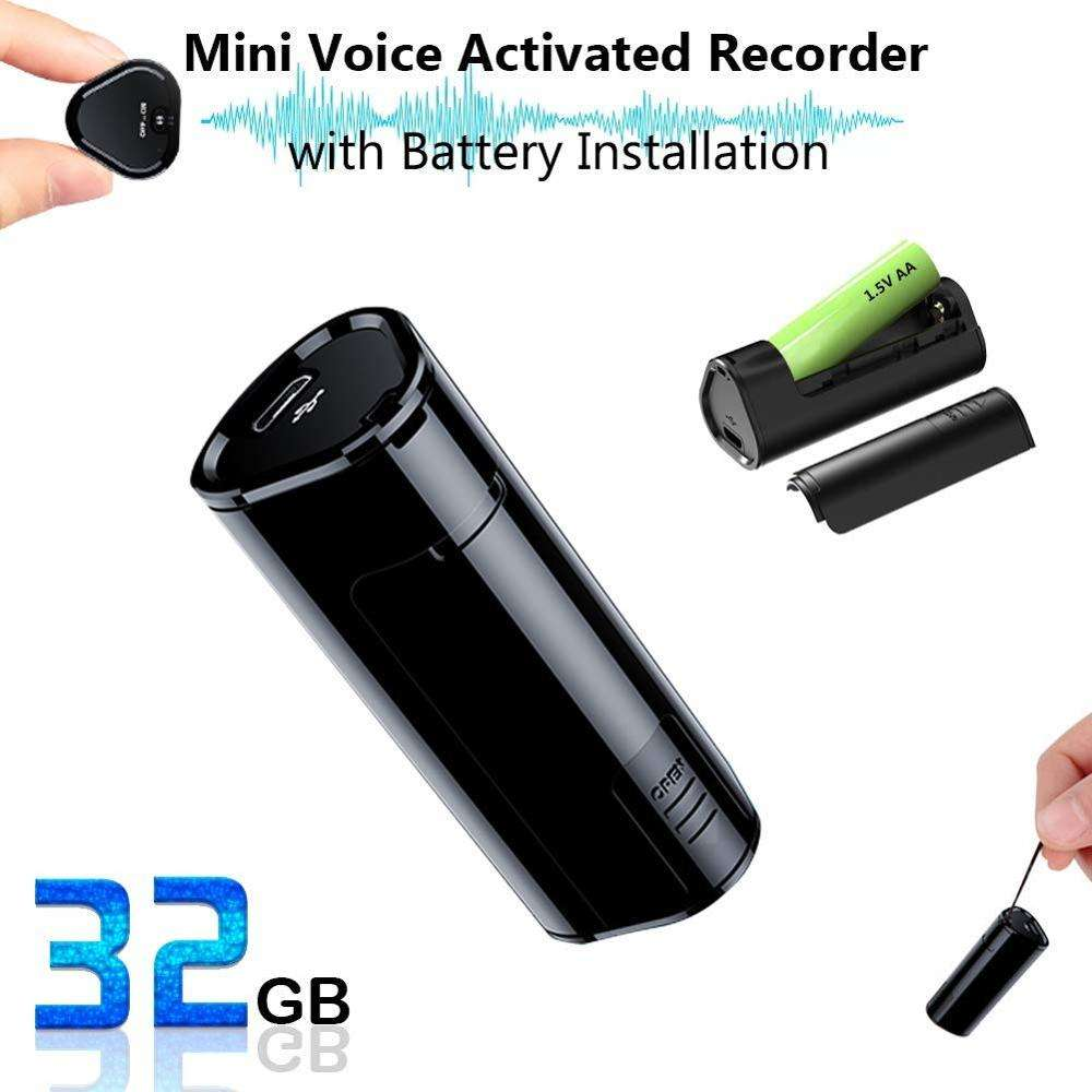 JNN Q51 Mini Voice Activated Recorder Long standby Audio Sound Recording