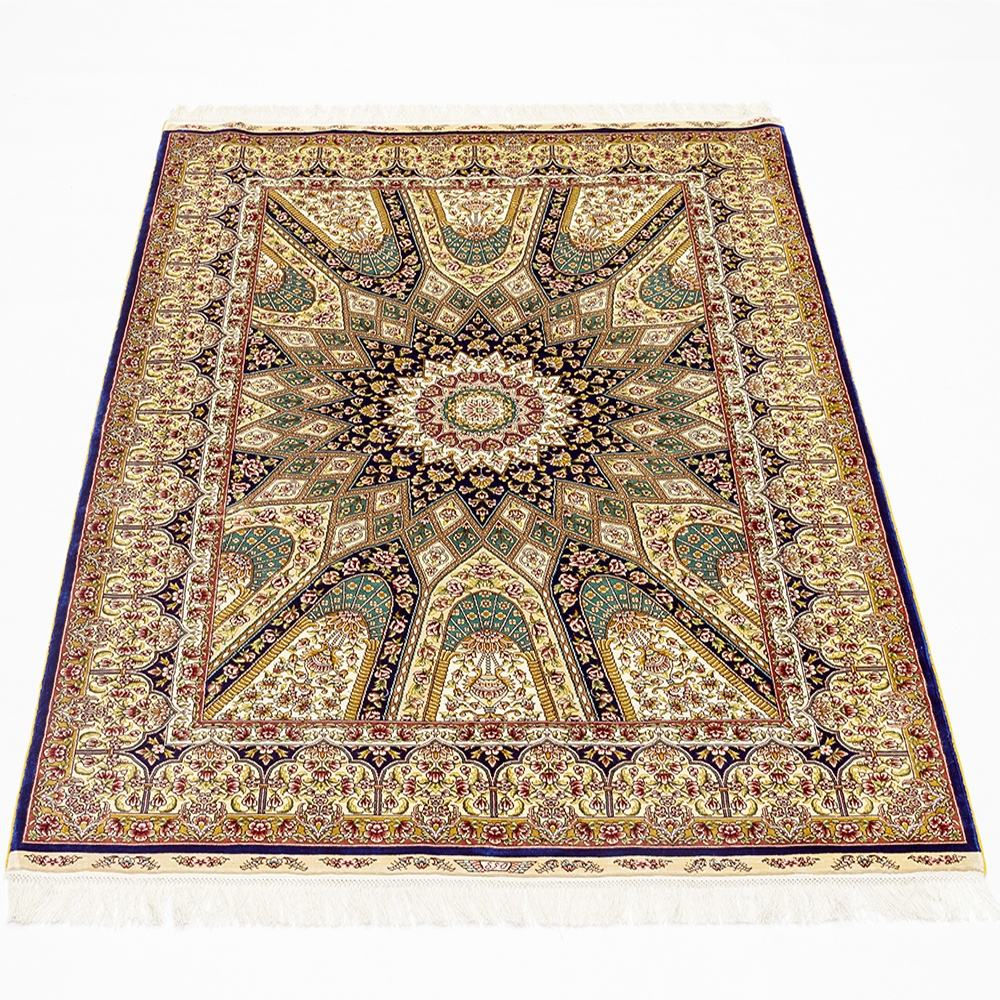 Best sale kashmir carpet handknotted persian tile chinese silk rug hot